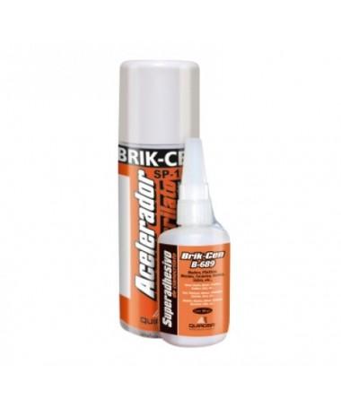 Adhesivo cianoto con acelerador